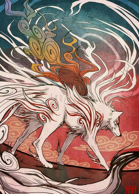 Youkais Excuse You This Amaterasu In Wolf Form From The Game