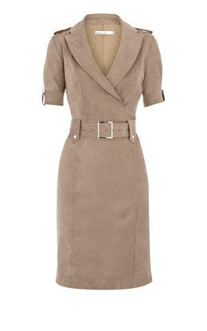 Karen Millen Soft Draped Shirt Dress Taupe - Women's style: Patterns of sustainability Dress Skirt, Shirt Dress, Coat Dress, Mode Hijab, Business Attire, Karen Millen, Work Attire, Mode Style, Work Fashion