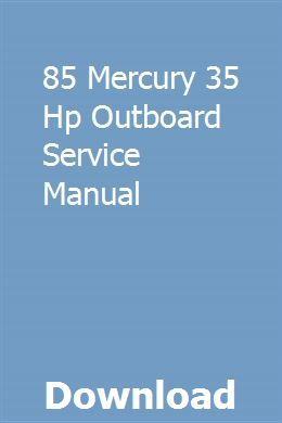 85 Mercury 35 Hp Outboard Service Manual Chilton Repair Manual Repair Manuals Dodge Ram 2500 Cummins