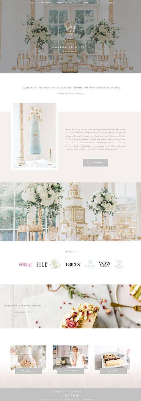 Luxury Logo Design, Elegant Logo Design, Luxury Branding, Cake Logo Design, Portfolio Website Design, Website Design Inspiration, Pastel, Cake Business, Business Branding