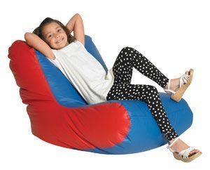 Brilliant School Age High Back Lounger Blue Red Cuddle Ups Bean Customarchery Wood Chair Design Ideas Customarcherynet