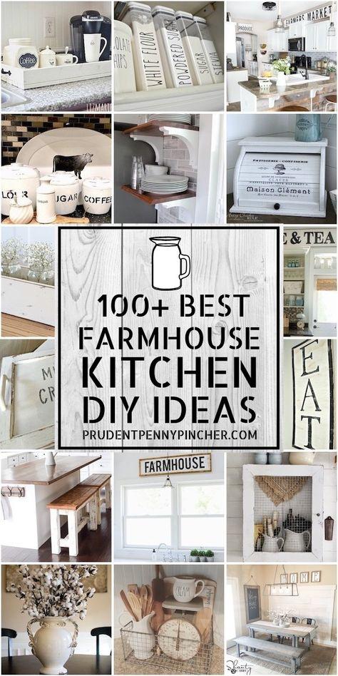100 Best Farmhouse Kitchen DIY Ideas