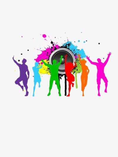 Color Dancing Silhouette Figures Color Clipart Dancing Clipart