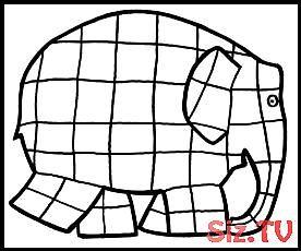 Elmar Elefant Ausmalbild Ausmalbild Elefant Elmar Kindergartenlessonart Elmar Elefant Elefant Ausmalbild Elefant