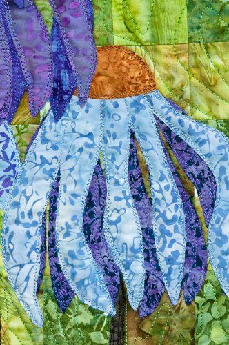 Coneflower Garden Quilt Pattern By 4th Sewingkitideas Garden Quilt Art Quilts Quilts