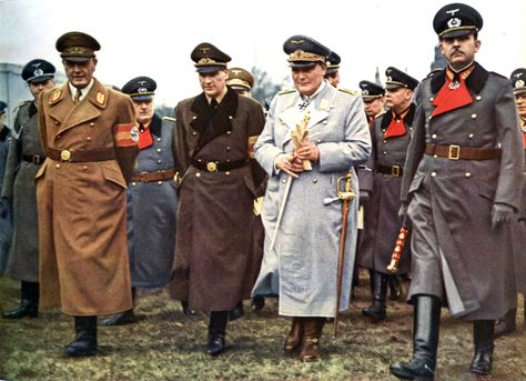 Hermann Göring in France in 1941. Göring was commander in chief of the Luftwaffe during the Battle of Britain, the first major campaign to be fought entirely by air forces.