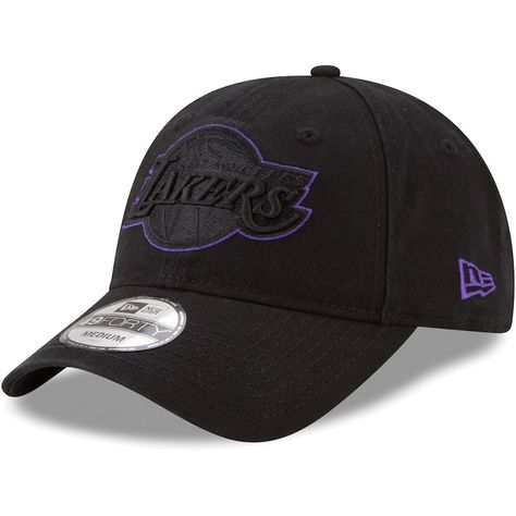 23285ad7f3a69 Los Angeles Lakers New Era Core Pop 49FORTY Fitted Hat – Black ...