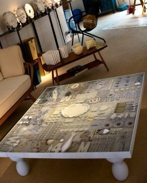 This Was A Free Coffee Table From Craigslist That I Sanded And Then Added Broken Plates And Grout For The Mosaic Th Resin Table Top Diy Resin Table Resin Table