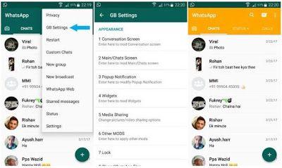 Cara Merubah Tampilan Whatsapp Dengan Gbwhatsapp Mod Whatsapp Aplikasi App Tema Tampilan Android Iphone Aplikasi Ponsel Android