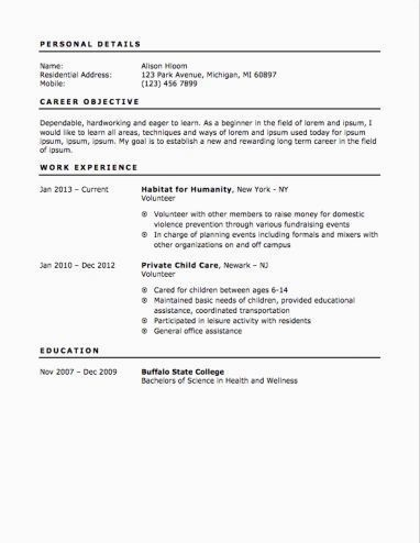 12 Free High School Student Resume Examples For Teens A Teenage