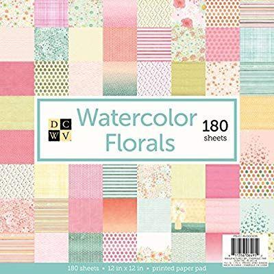 Amazon Com American Crafts Dcwv Watercolor Florals Cardstock