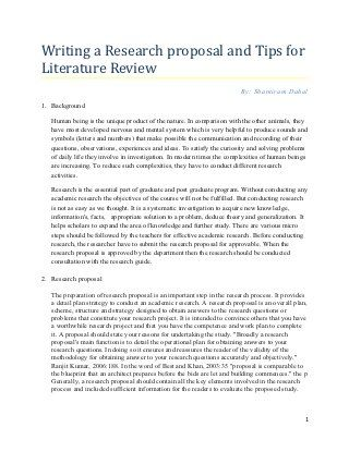Research Proposal Tips For Writing Literature Review Research Proposal Dissertation Writing Writing A Research Proposal
