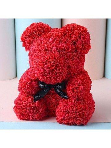 Weihnachtsgeschenk Rose Bear Flower Valentinstag Party Love Teddy 25cm Box Winer