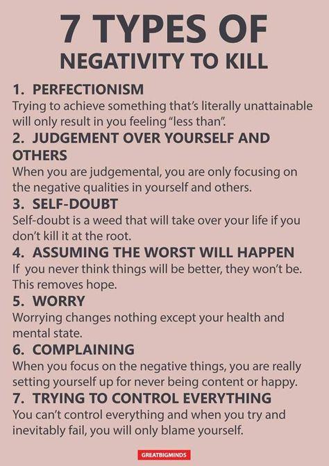 7 types of negativity to stop #PTSD-Post-TraumaticStressDisorder