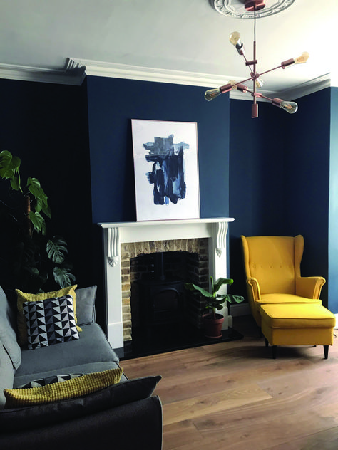 Good images of blue living room walls to refresh your home