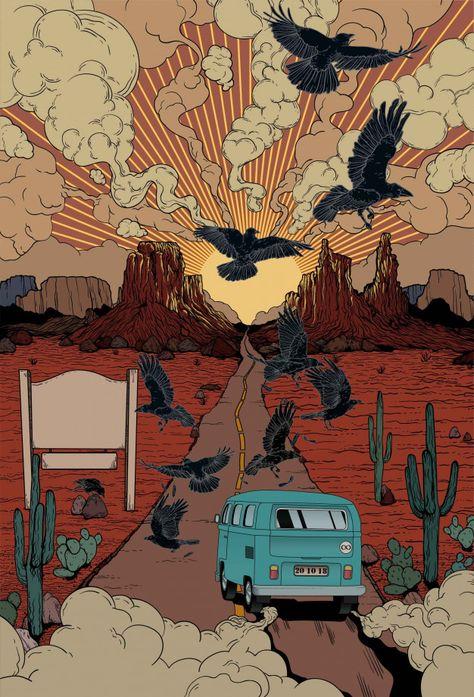 Desert Car Illustration