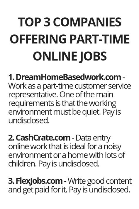 Top 3 Companies Offering Part-Time Online Jobs