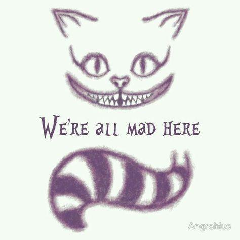 Alice In Wonderland Wunderland Tattoo Cheshire Cat Zeichnung