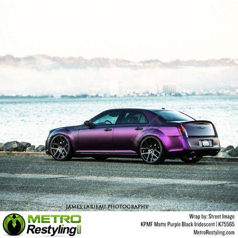 KPMF Matte Purple Black Iridescent vinyl wrap