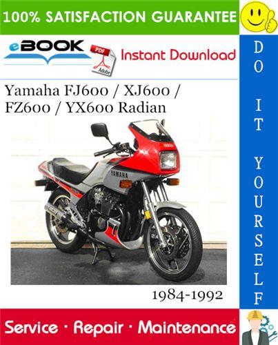 Yamaha Fj600 Xj600 Fz600 Yx600 Radian Motorcycle Service Repair Manual 1984 1992 Download Yamaha Repair Manuals Repair