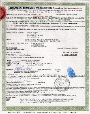 IBOE u201cINTERNATIONAL BILL OF EXCHANGEu201d Sample behnam - bill of exchange sample
