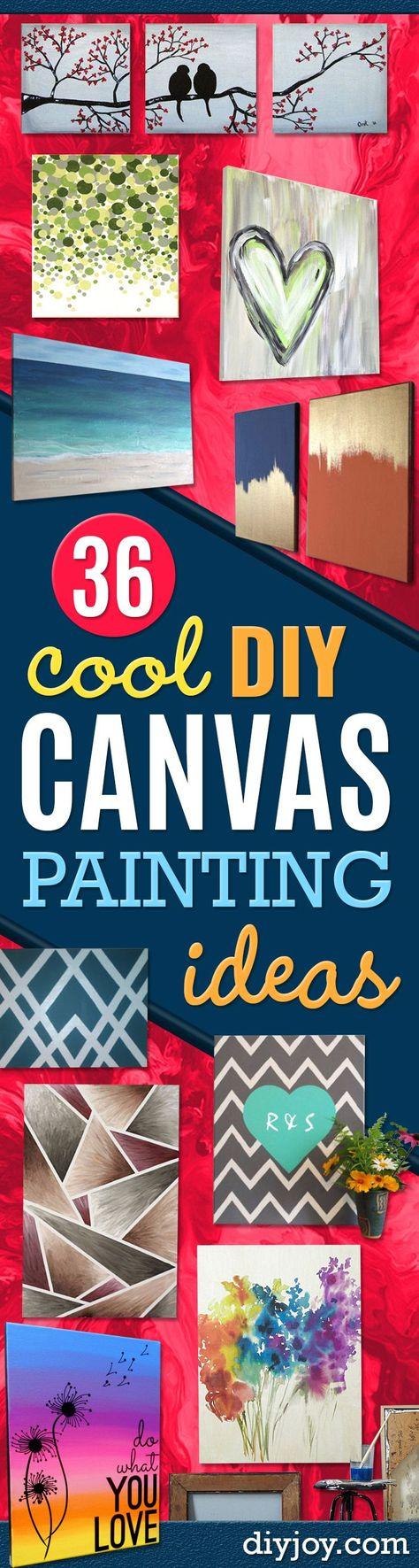 Painting Ideas On Canvas For Teens Easy 56 Ideas