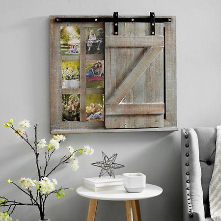 Sliding Barn Door Chalkboard Collage Frame 5x7 Barn Door Barn