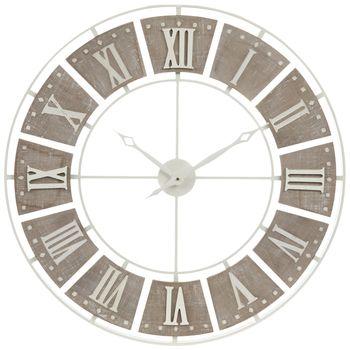 Round White Metal Wall Clock Metal Wall Clock Wall Clock Hobby Lobby Wall Clocks
