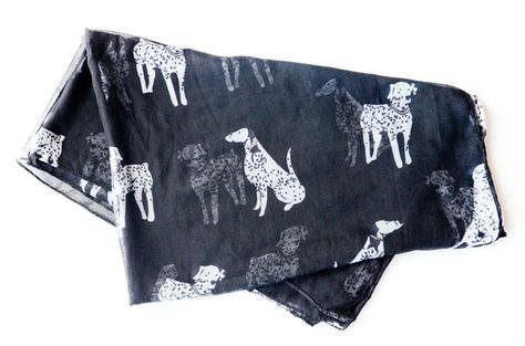 The Black Dalmatian Scarf $14