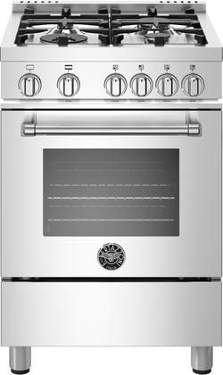 Bertazzoni Mast244gasxe Master Series 24 Inch Stainless Steel Gas Convection Freestanding Range Cooking Stove Slide In Range