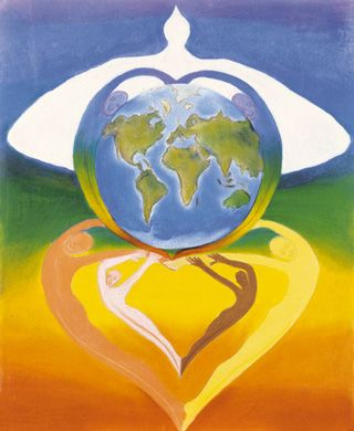 """""""United in Peace"""" 2000-2001 Grand Prize Winner by 11-year-old Delphin Tiberge of Guadeloupe"""