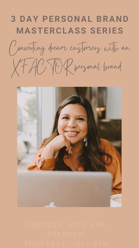 JOIN MY 3 DAY PERSONAL BRAND MASTERCLASS