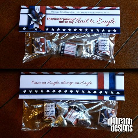 Eagle Scout Court of Honor Treat Bag Topper,  Favors, Thank You's