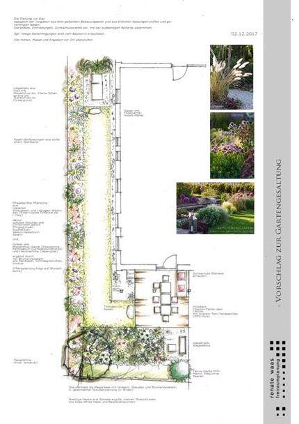 Gartenplan Kleiner Garten Mit Staudenbeet Garten Grundriss Gartenplanung Garten