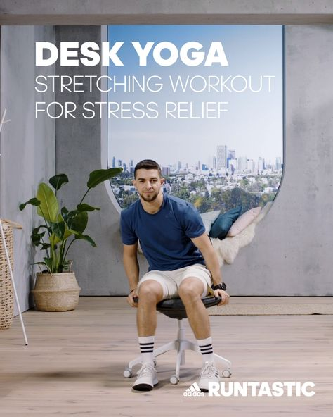 Sitting in front of a computer all day? Don't forget to unplug and take a break! Do nine minutes of this easy desk yoga routine to help relieve muscle tension. Whether it be in the morning before you check your emails or in the afternoon after a stressful meeting, your full body will thank you. And if you enjoyed this, check out this free mindfulness journal on our blog afterwards. It'll help you set goals and intentions for your day and check in with yourself.