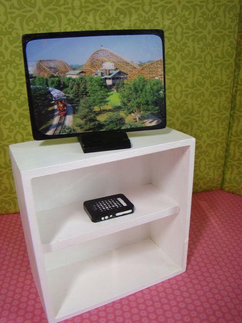 Barbie Furniture Accessories - Flat Screen Television w DVD Player