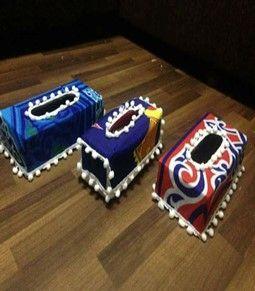 علبة مناديل مغطاة بقماش الخيامية Birthday Candles Candy Bar Candy