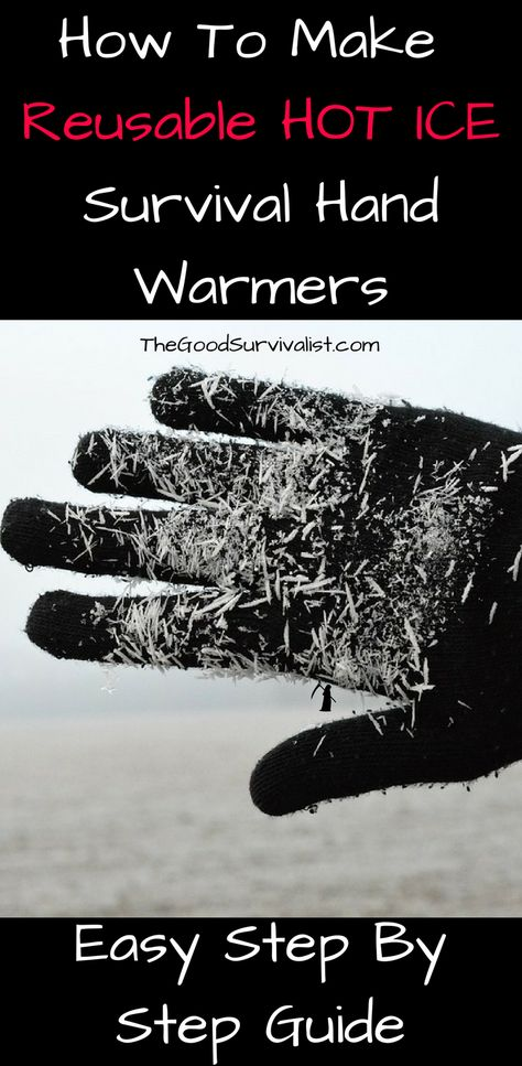 How to make reusable hot ice survival hand warmers! Easy step by.