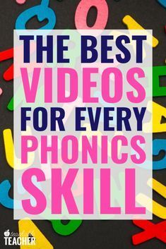 Are you looking for engaging videos to teach kids phonics? I've spent hours finding the perfect phonics videos. Phonics For Kids, Phonics Reading, Teaching Phonics, Phonics Activities, Kindergarten Literacy, Reading Activities, Reading Skills, Guided Reading, Teaching Reading