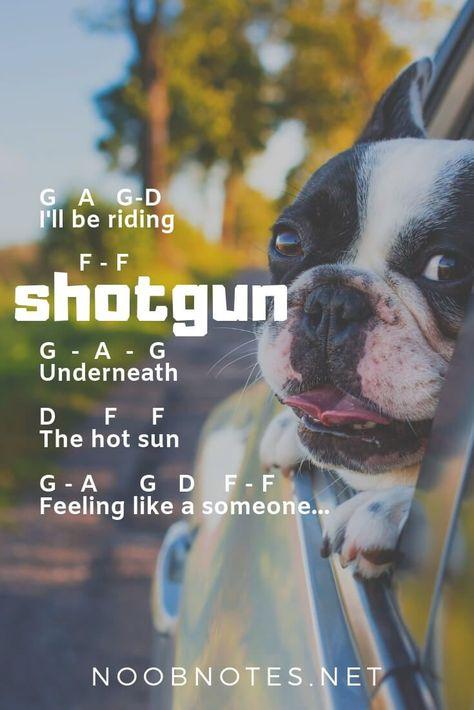 Shotgun – George Ezra – music notes for newbies