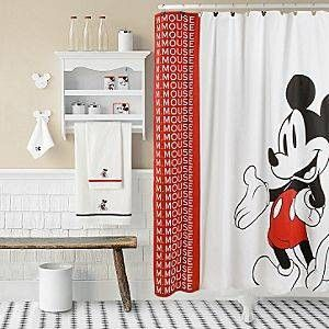 Or This One Mickey Mouse Shower Curtain Mickey Mouse Bathroom