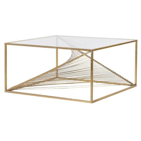 Genoise Gold Coffee Table Gl Top