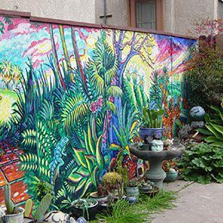 Park Bahce Duvar Resmi Boyama Ornekleri Duvar Resmi Boyama Sanati Mural Walled Garden Bahce
