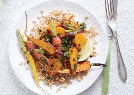 Roasted Carrots with Mint Chermoula | Vegetarian Times