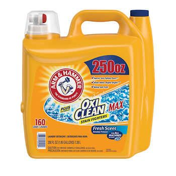 Arm Hammer Plus Oxiclean Max He Liquid Laundry Detergent Fresh