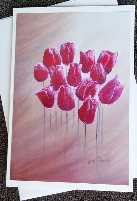 Tulipes personnalisé retraite Carte de vœux
