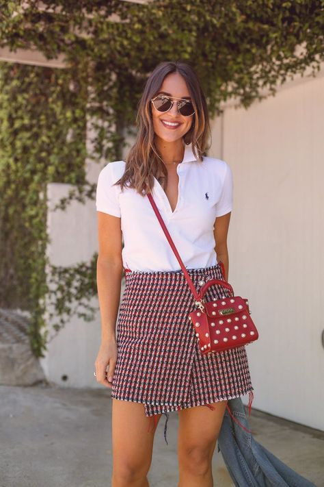 How to Style a Classic White Polo Shirt - Girls Polo Shirt - Ideas of Girls Polo Shirt - ralph lauren white polo shirt