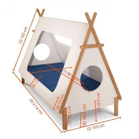 Bett Tipi 90 X 200 Cm Diy Kinderbett Tipi Bett Und