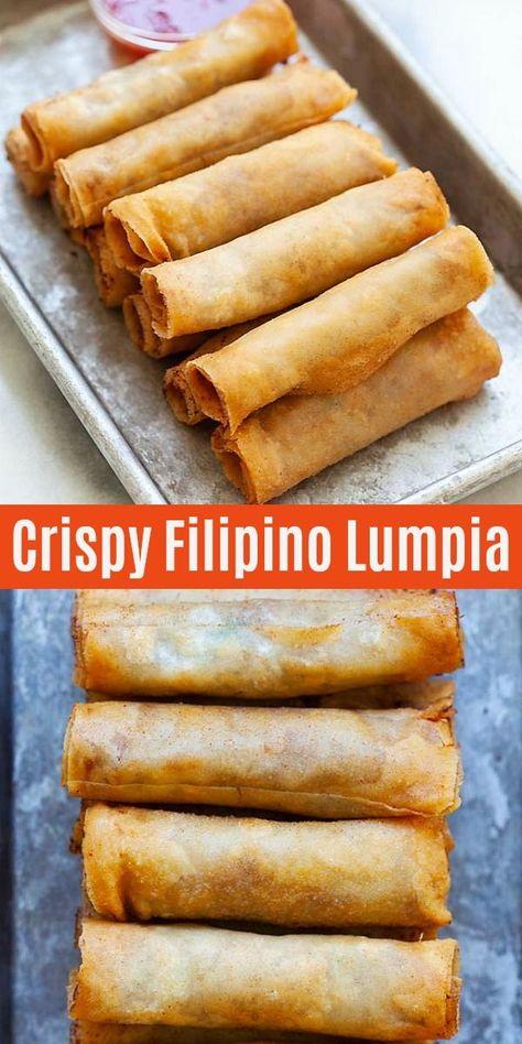Lumpia (Crispy Filipino Spring Rolls Recipe) - Rasa Malaysia - My Recipe Magic  #appetizers #snacks