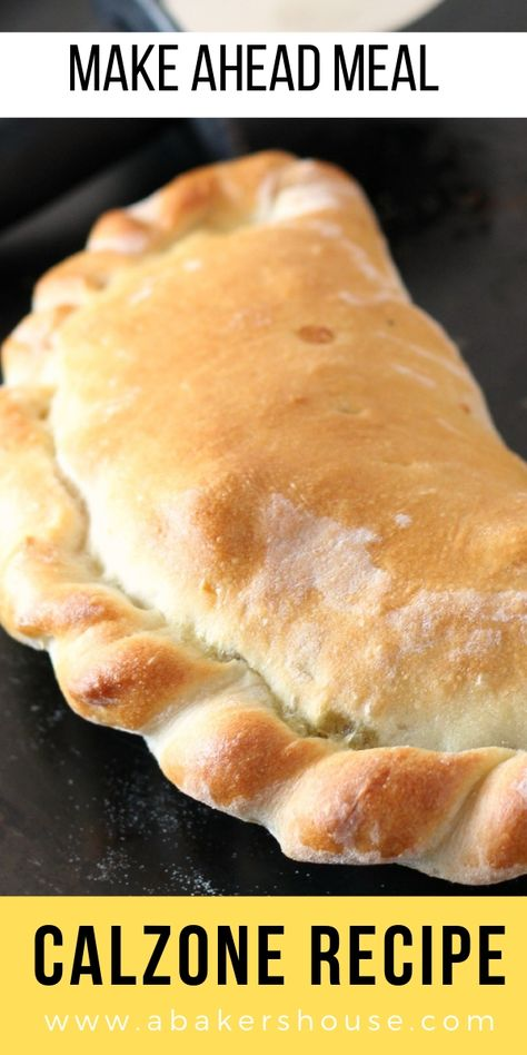 Homemade Calzone Recipe Homemade Calzone Recipe Easy to make homemade calzone recipe. Dough folded around sauce and fillings makes a wonderful baked calzone. Panzerotti Recipe, Pizza Recipes, Cooking Recipes, Kitchen Aid Recipes, Skillet Recipes, Cooking Gadgets, Best Pizza Dough, What To Do With Pizza Dough, Italian Recipes